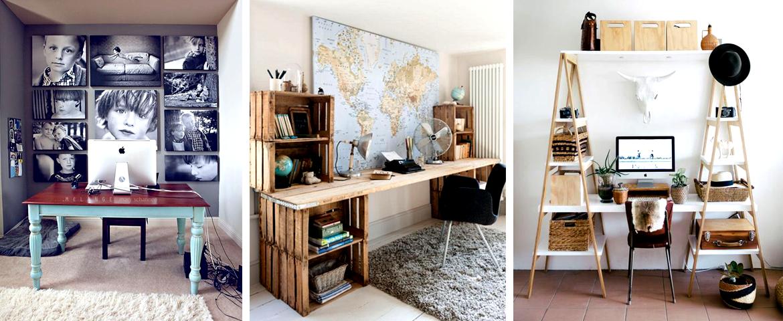 Trabajas desde casa ideas para decorar escritorios daye for Tipos de adornos para escritorio de oficina